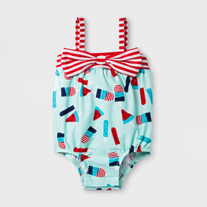New Baby Girl Popsicle One Piece Swimsuit Clothes